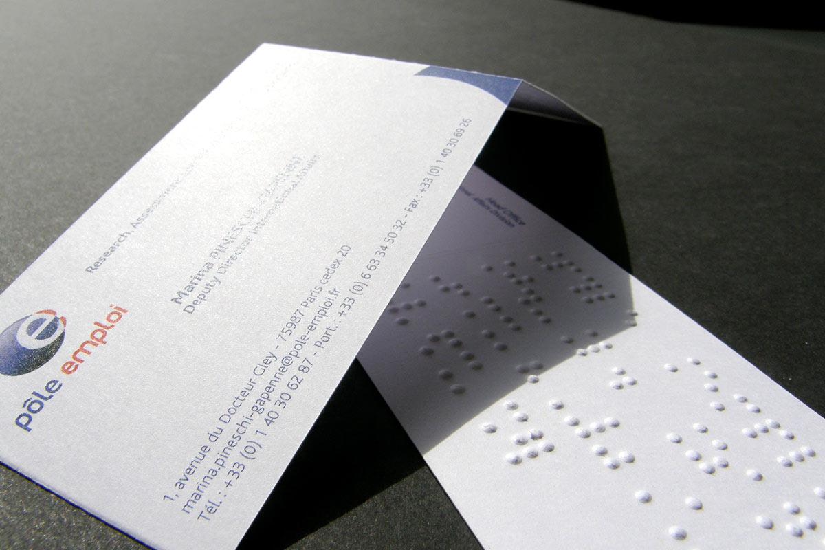 Papeterie Avec Braille Et Relief Tactile